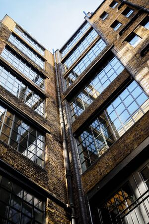 Old glass industrial building in London