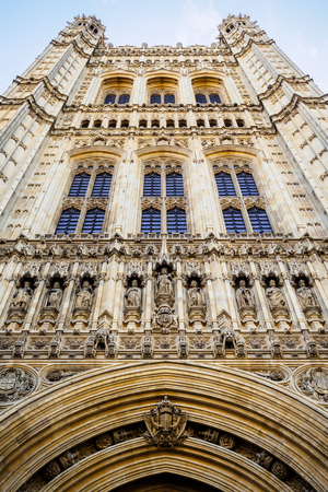 The facade of the Westminster Hall in London