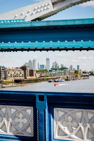 The city from Tower Bridge in London