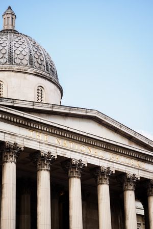 The dome of the National Gallery in London 에디토리얼