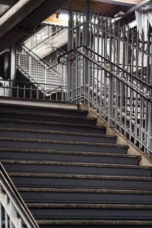 Mythical string of stairs from the Paris metro at Stalingrad station Imagens