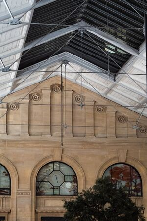 Graphic old train station hall Banco de Imagens