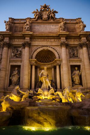 Trevi Fountain at the end of the day in Rome