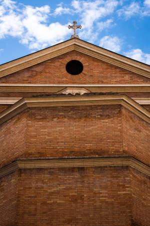 Facade of the basilica of santa maria degli angeli e dei martiri in rome, Italy