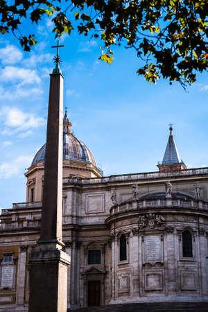 The Basilica of Saint Mary Major in Rome, Italy