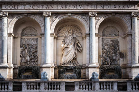 Happy Water Fountain, Fountain of Moses in Rome, Italy