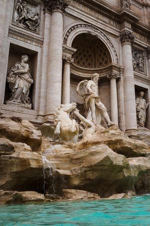 The god Neptune in the Trevi Fountain in Rome, Italy Archivio Fotografico