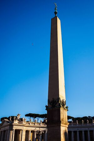Pillar on St. Peter's Square in Rome, Italy Foto de archivo