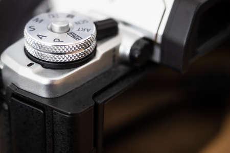 Mode dial of a modern digital camera
