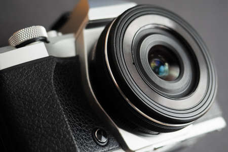 Modern mirrorless camera with an old style
