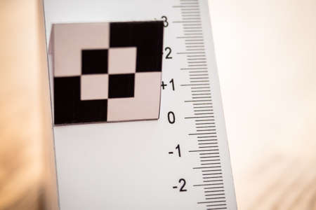 Paper test chart for auto focus calibration of a camera - Horizontal