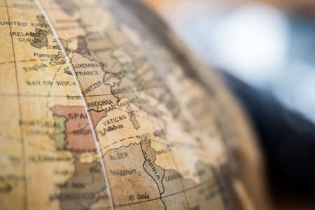 Close-up on a world map, Europe Archivio Fotografico