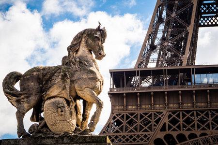 Parisian ride at the Eiffel Tower in Paris, France