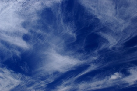 Blue Sky with Wispy Clouds