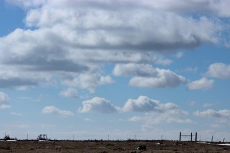 Clouds Western KS  Фото со стока