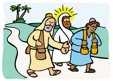 Jesus appeared to two disciples who were walking from Jerusalem to Emmaus