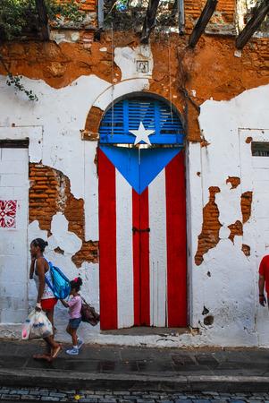 bandera de puerto rico: PUERTO RICO PUERTA DE BANDERA