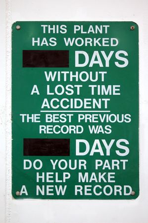Green lost work sign Stock Photo