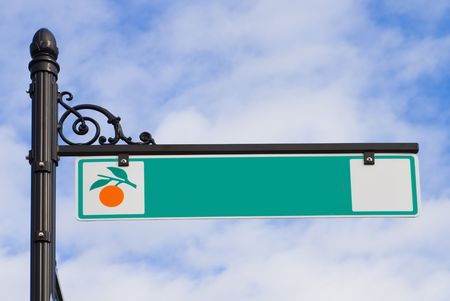 A Florida street sign on a decorative post Stock Photo