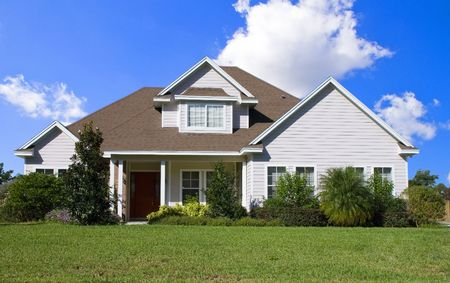 Rural Home on a sunny day in Florida Stock Photo
