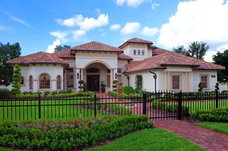 Upscale home in Central Florida with blue sky