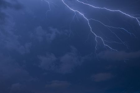 Lightning strike with room for text Stock Photo - 5215204