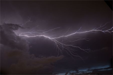 Massive cloud to cloud lightning strike Stock Photo - 5215205