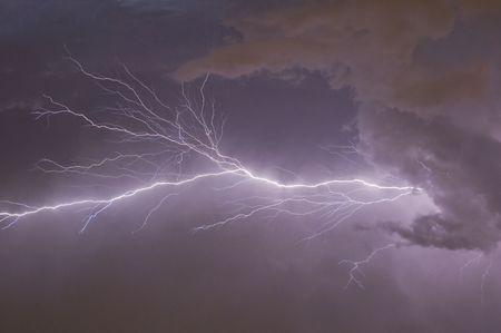 Finger lightning on a warm Florida evening Stock Photo - 5215206