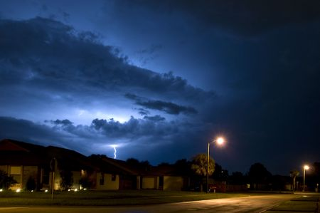 Local Neighborhood Lightning Strike Near Homes in Central Florida the Lightning Capital of the United States photo