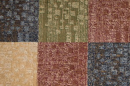 Carpet squares of different colors for background Stock Photo