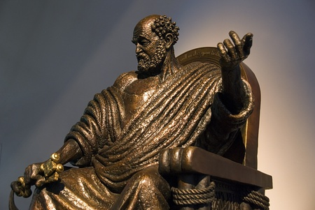 Bronze statue of Saint Peter the apostle photo