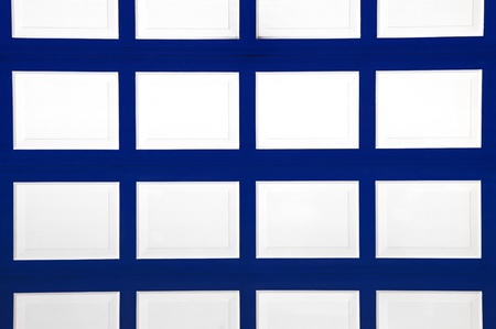 Blue and White garage door pattern for background