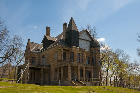 Reconstruction and rebuilding of a historical old stone mansion