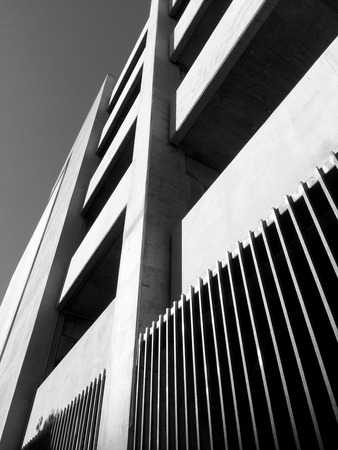 Monochrome building facade