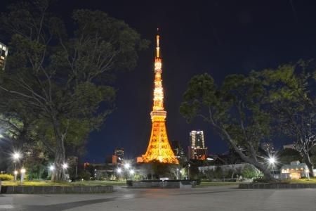 Tokyo Tower at night 版權商用圖片
