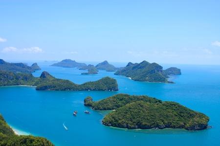 blue sky and blue sea at  ang-thong marine nation park Stock Photo - 9818383