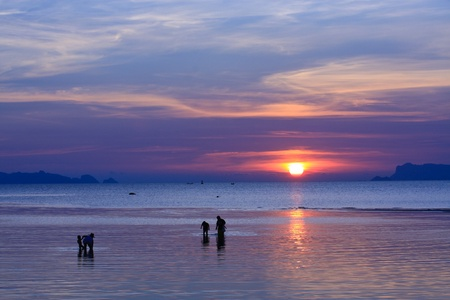 Wonderful sunset in Koh Samui Thailand photo