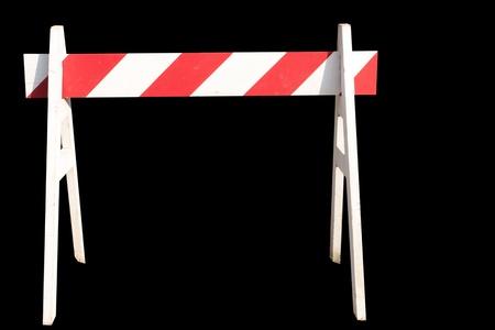 no pase: no pasar signo para construcción aislado en negro Foto de archivo