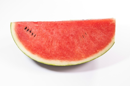expiring: a piece of watermellon isolated on white background