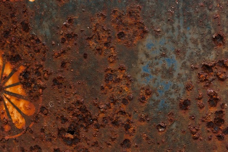 A rust on Zinc wall Stock Photo - 10269860
