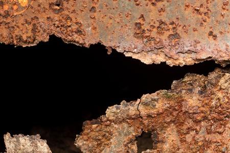 rust: A rust on Zinc wall  Stock Photo