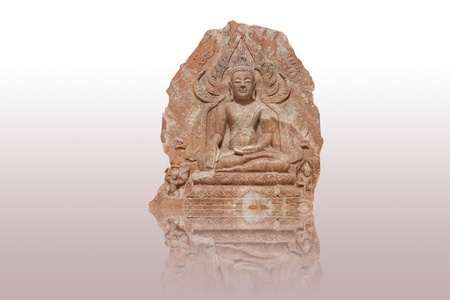 divinity: Quartz budha sculptures  isolated on white
