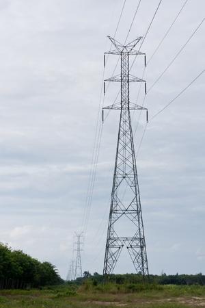 De alta tensión de electricidad pilares