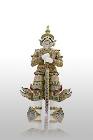 native Thai style giant statues  photo