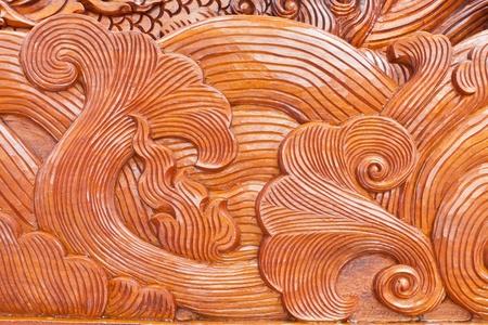 teak wood craving thai style   photo