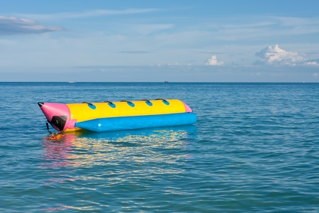 Banana boat in the sea