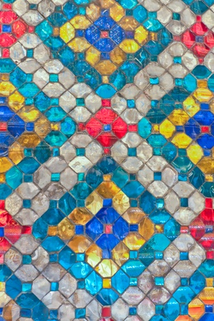 Pillar with glazed tile in Temple of The Emerald Buddha, Thailand Stock Photo - 11186938