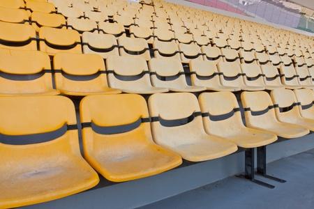 grandstand: Yellow grandstand  Yellow grandstand