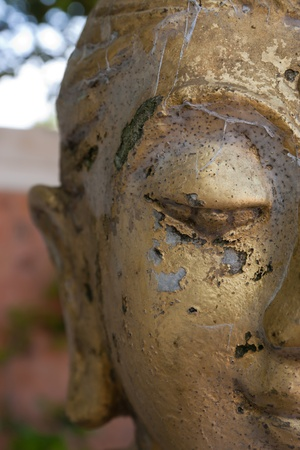 old smilling buddha face  photo