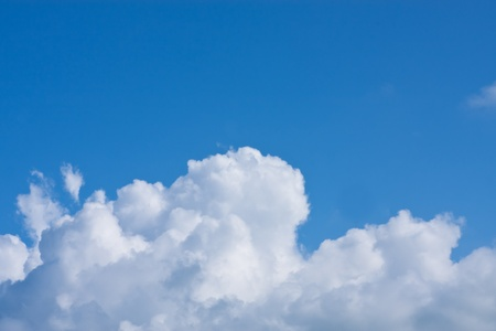 cumulus: Blue sky and big white cloud  Stock Photo